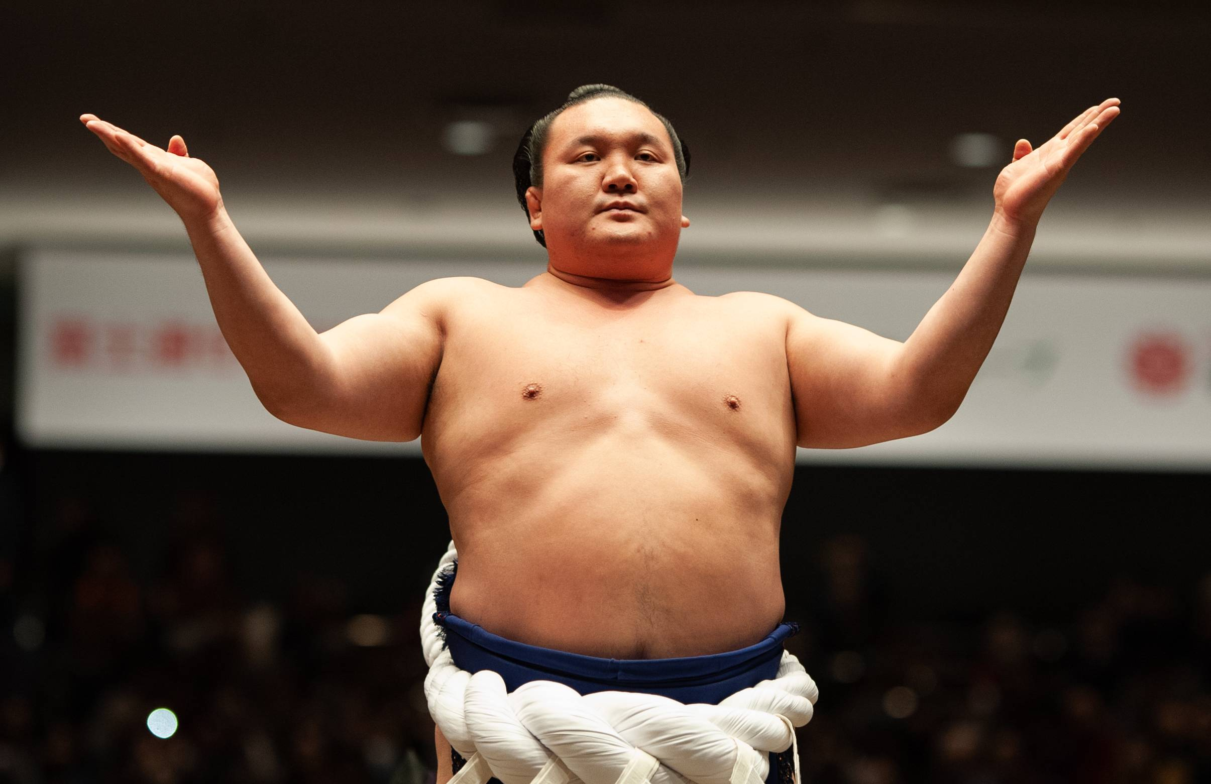 Hakuho's legacy includes 45 Emperor's Cups and 1,187 career wins. | JOHN GUNNING