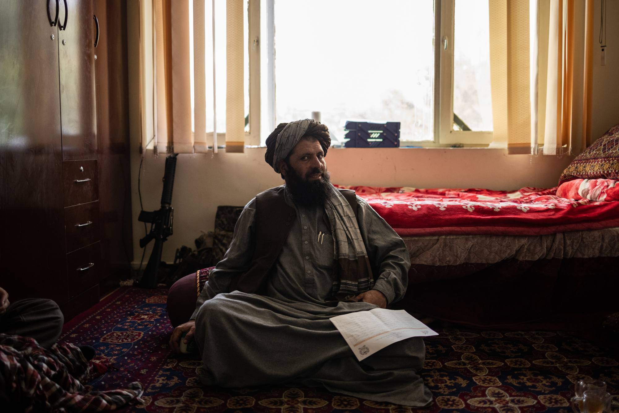 Ghulam Maroof Rashid, a Taliban commander in Maindan Wardak, Afghanistan. A young intelligence officer with the Taliban in the 1990s, Rashid remembers the attacks on the World Trade Center and the Pentagon. | JIM HUYLEBROEK / THE NEW YORK TIMES